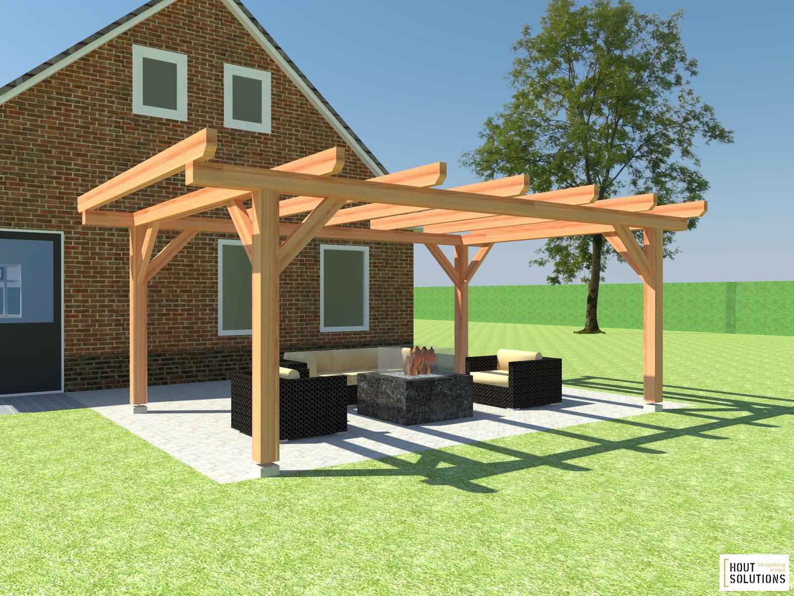 Pergola bouwen houtsolutions - Pergola hout bedekt ...