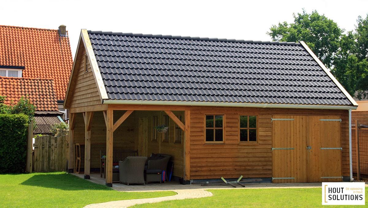 Garage Met Overkapping : Houten garage met overkapping houtsolutions