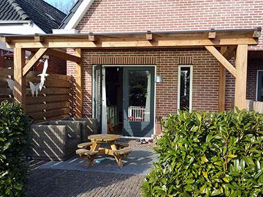 Eiken houten veranda