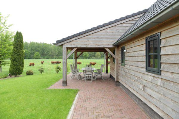 Garage Met Veranda : Houten garage met veranda opgeleverd in almelo vechtdalbouwsystemen