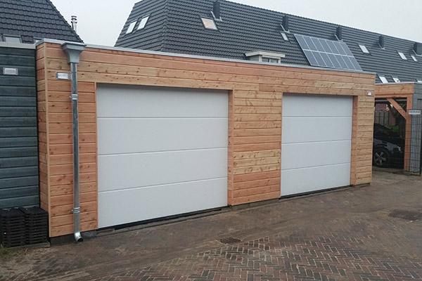 Houten-garage-platdak