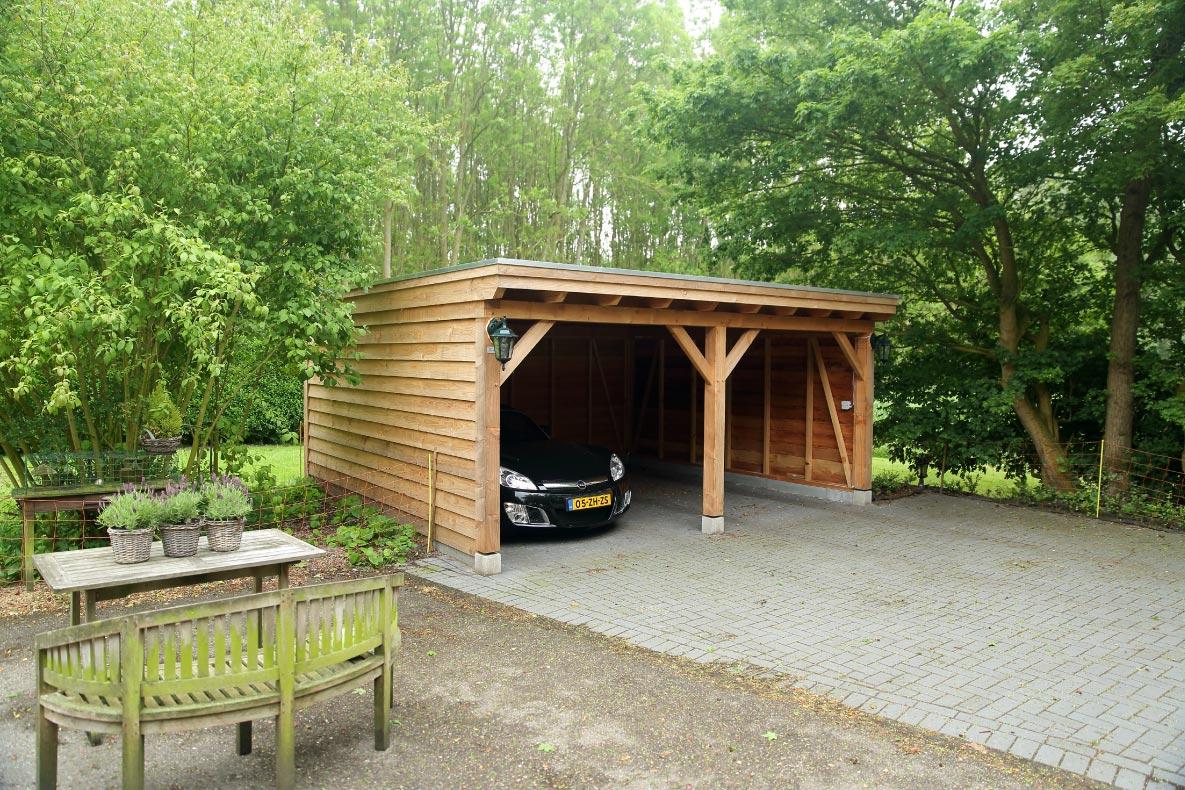 Houten carport - 2