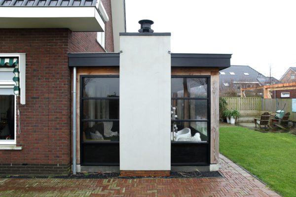 Luxe houten terrasoverkapping