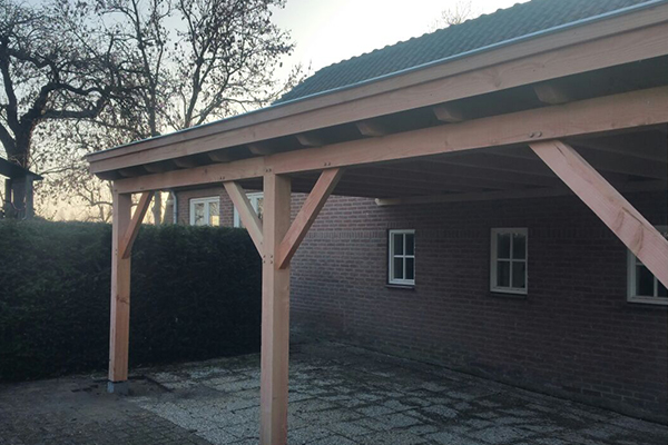 Houten terrasoverkapping aanbouw houtsolutions - Terras houten pergola ...