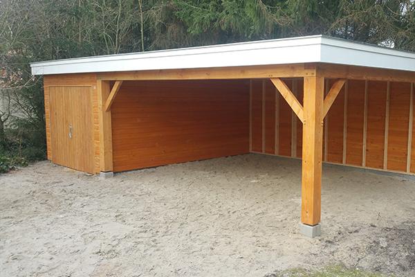 royale vrijstaande houten garage