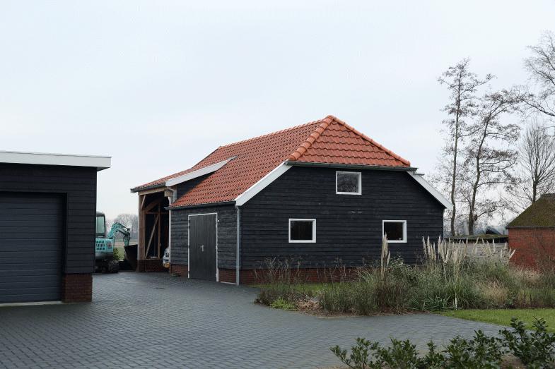 Houten nostalgische garage