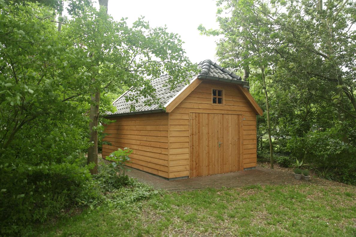 Houten nostalgische garage Wolfskap