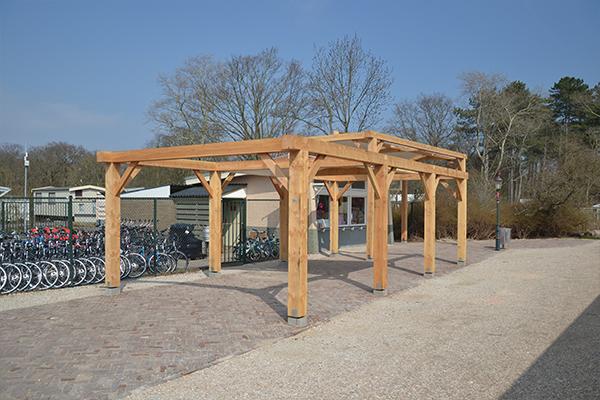 Houten pergola - Camping Kennemerduin